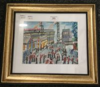 JOHN ORMSBY (20th/21st century), Old Trafford, heightened watercolour,