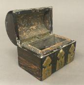 A small Victorian brass mounted coromandel box