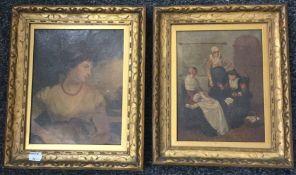 Two framed oleographs