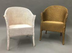 Two Lloyd Loom chairs