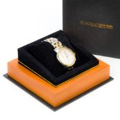 A Baume & Mercier stainless steel cased gentleman's automatic wristwatch The silvered multi-dial