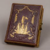 The British Army Album A Victorian gilt leather bound musical photograph album depicting various