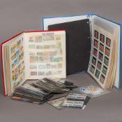 A large stamp collection Including various British and Commonwealth stamps contained in albums,