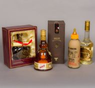 Five bottles of various alcohol Including: a boxed Bell's 21 Years Old Royal Reserve Very Rare