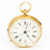 A late 19th century 18 ct yellow gold Centre Sounds chronograph pocket watch With stopwatch