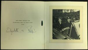 HRH Princess Elizabeth (1926-) and HRH Prince Philip,