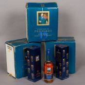 Fourteen boxed bottles of Premiers Fifteen Years Old Scotch Whisky The John Major bottle