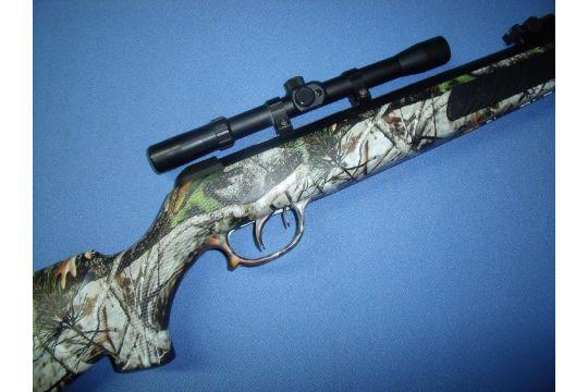 Kral  22 break barrel air rifle with composite woodland