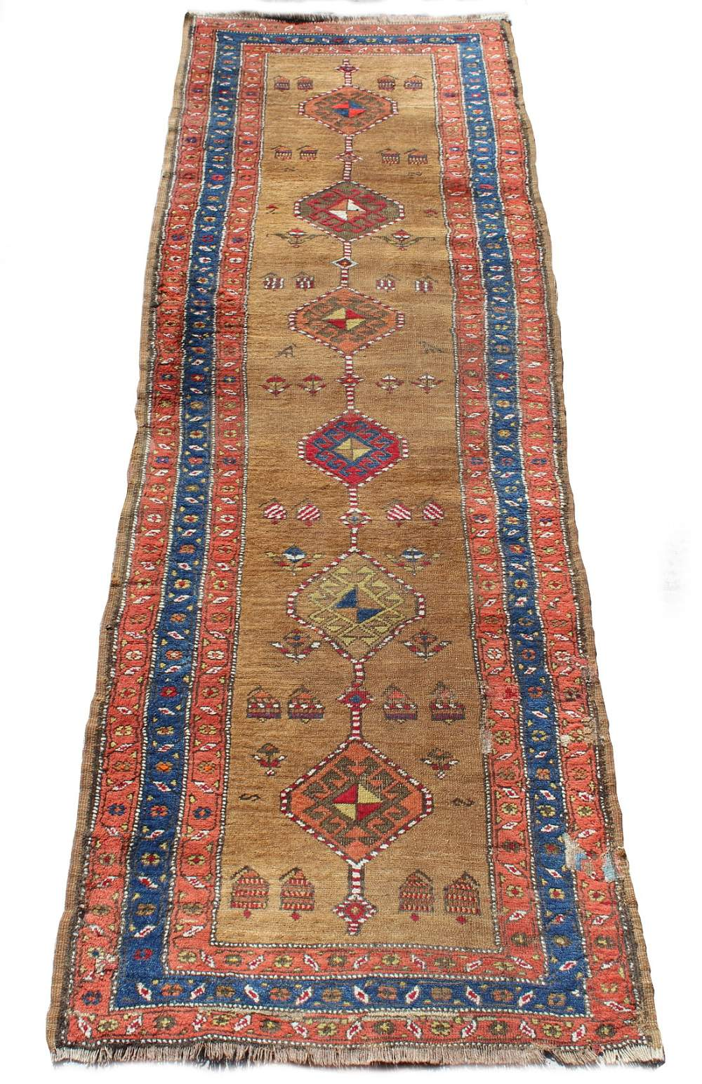 Lot 57 - Property of a deceased estate - a late 19th / early 20th century antique Caucasian long rug, with
