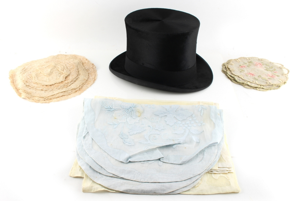 Lot 22 - Property of a gentleman - a black silk top hat, by Lincoln Bennett & Co., London, boxed; together