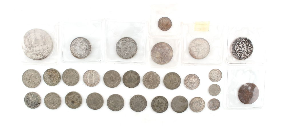 Lot 13 - Property of a gentleman - a quantity of Ottoman silver coins, late 19th / early 20th century;