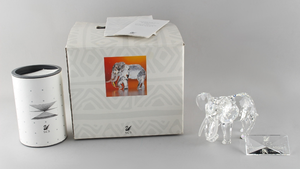 Lot 97 - A private collection of Swarovski crystal glass - Elephant, the 1993 Annual Edition 'Inspiration