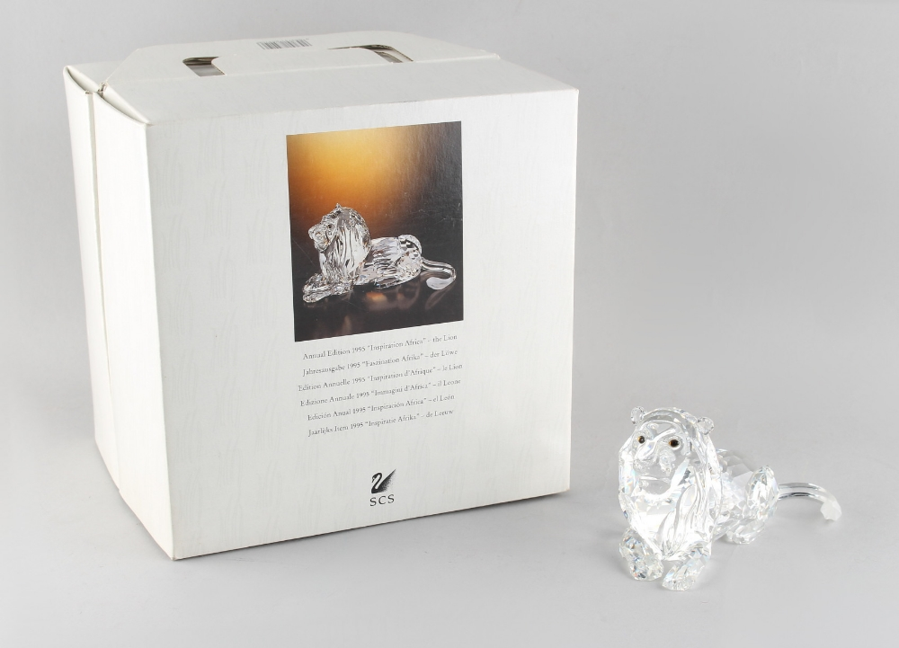 Lot 98 - A private collection of Swarovski crystal glass - Lion, the 1995 Annual Edition 'Inspiration
