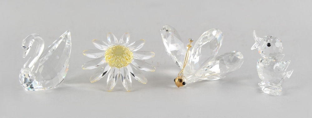 Lot 90 - A private collection of Swarovski crystal glass - a Butterfly, 1.25ins. (3.2cms.) high; together