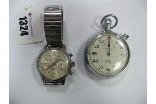 A MIRUS Vintage Gent39s Chronograph Wristwatch The Signed Dial