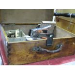 Lot 1045 - Bradux Watch Case Implement, Hilger Watts Clinometer, M & W Micrometer, another by Mitutoyo,