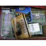 Lot 1025 - Over Two Hundred DVD's - all railways related:- Two Boxes