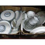 Lot 1063 - Royal Doulton 'Moonstone' Dinnerware, including lidded tureens, Johnson Brothers 'Summerfields'