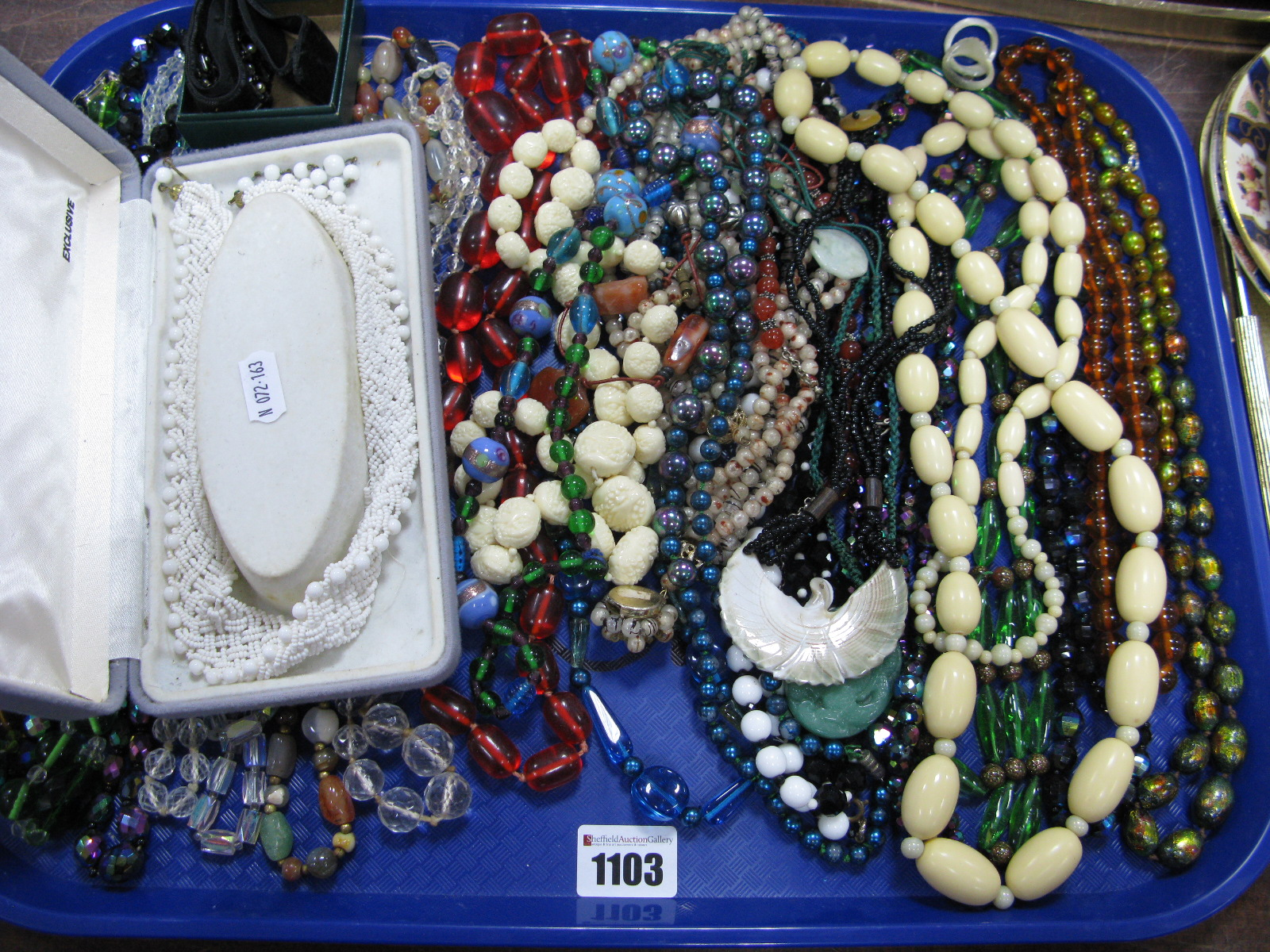 Lot 1103 - A Mixed Lot of Assorted Costume Bead Necklaces:- One Tray