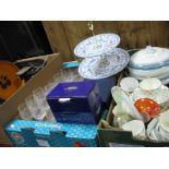 Lot 1052 - Losal Dinner Ware, Minton 'Shalimar' cake stand, scales, glasses, Macintosh style photo frame, etc:-