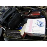 Lot 1089 - Cameras and Photographic Equipment:- including Nikon F75 kit, Olympus Trip, Samsung Digimax 202,