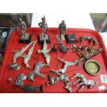 Lot 1260 - White Metal Military Figures, Animals, etc:- One Tray