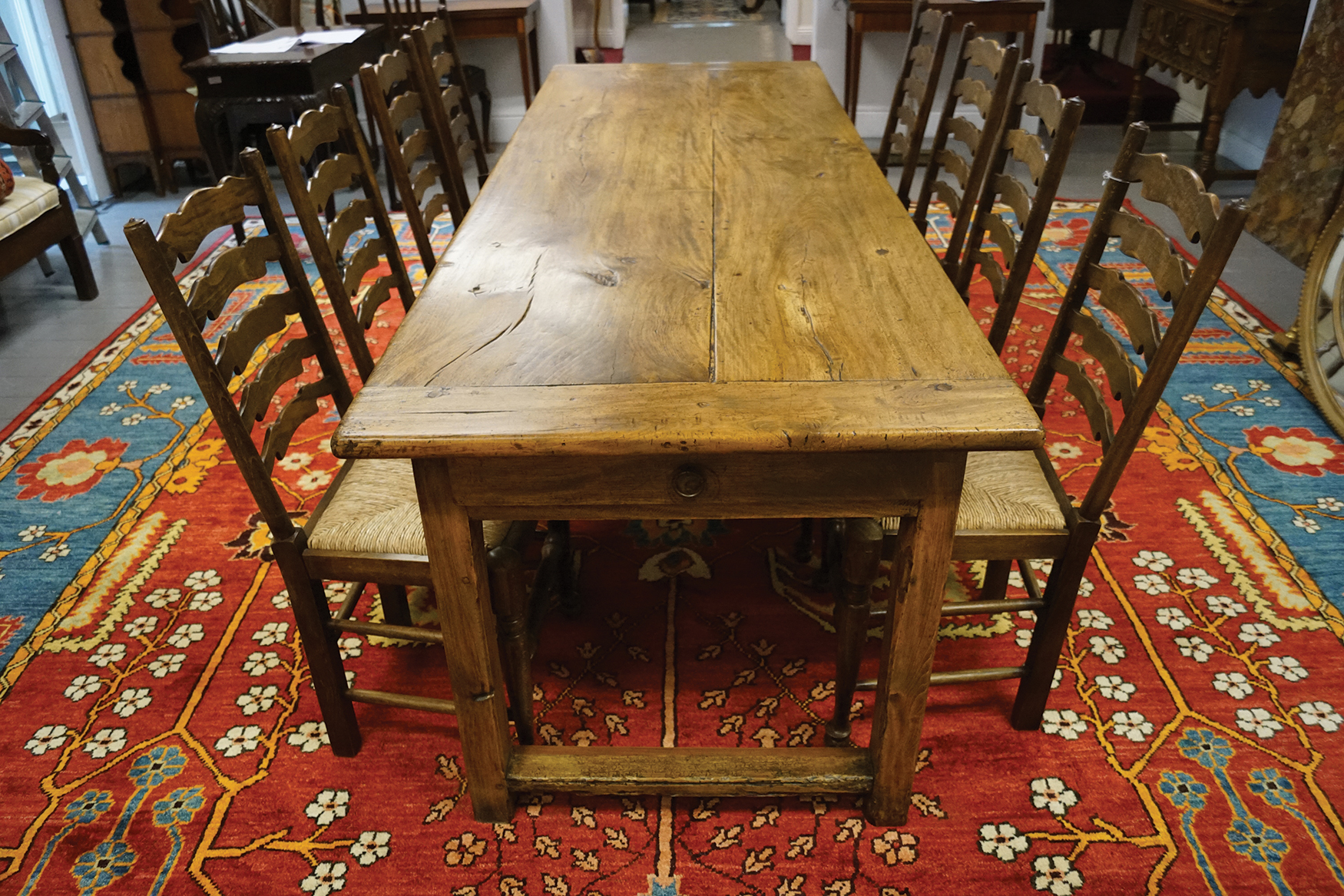 Lot 371 - LARGE 19TH-CENTURY FARMHOUSE TABLE
