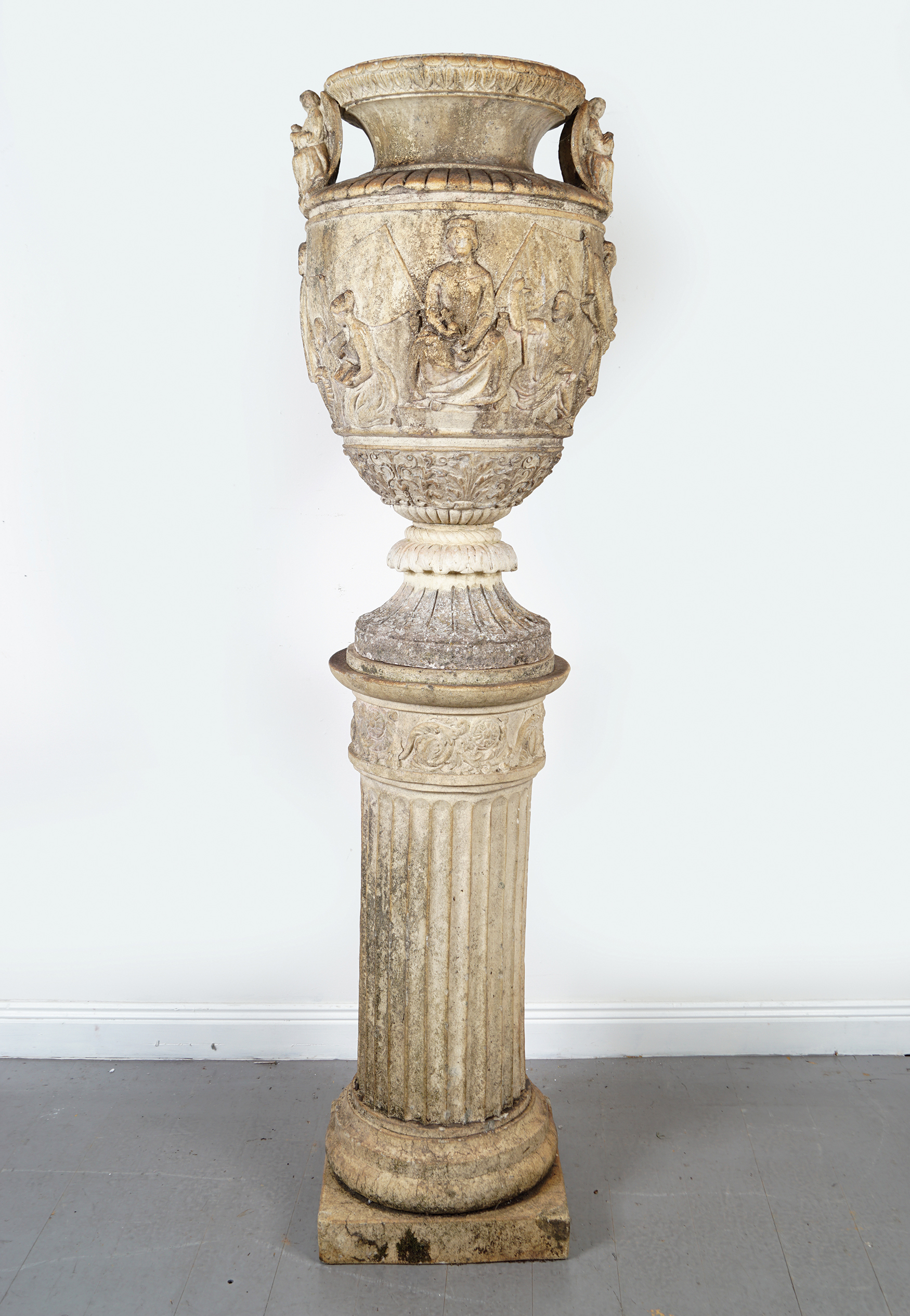 Lot 5 - 19TH-CENTURY TERRACOTTA CLASSICAL URN