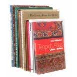 8 Bücher   Kunsthandwerkbest. aus: Dexel, Glas - Werkstoff und Form, Maier, 1950; Schmitz, Das