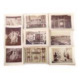 Sammlung Pompeji-Fotografienum 1864, 50 Tafeln mit s/w-Fotografien im Hoch- und Querformat,