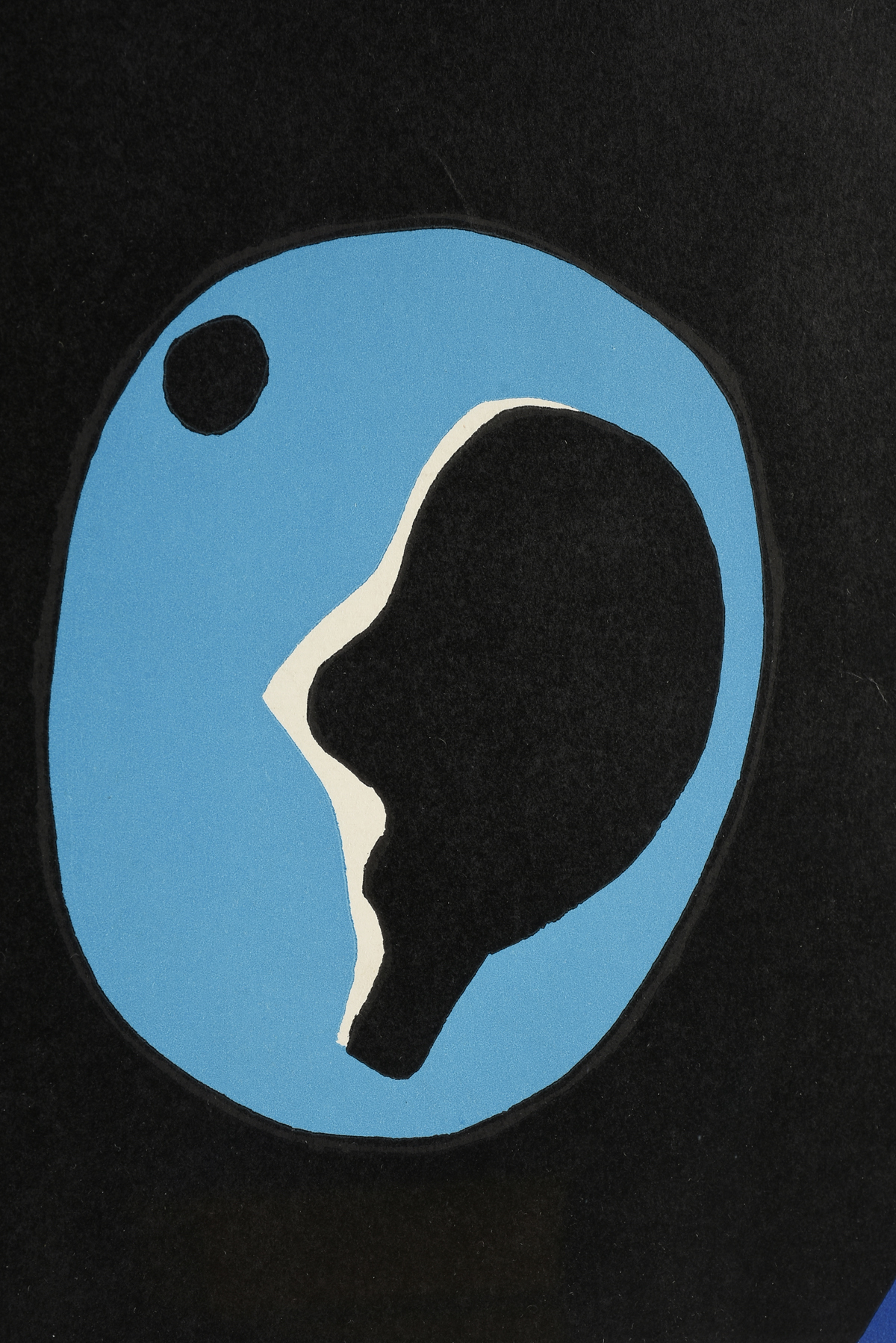 "Lot 12 - circle of JEAN ARP (French/Swiss 1886/87-1966) A MINIMALIST SERIGRAPH PRINT, ""Composition in Blue"