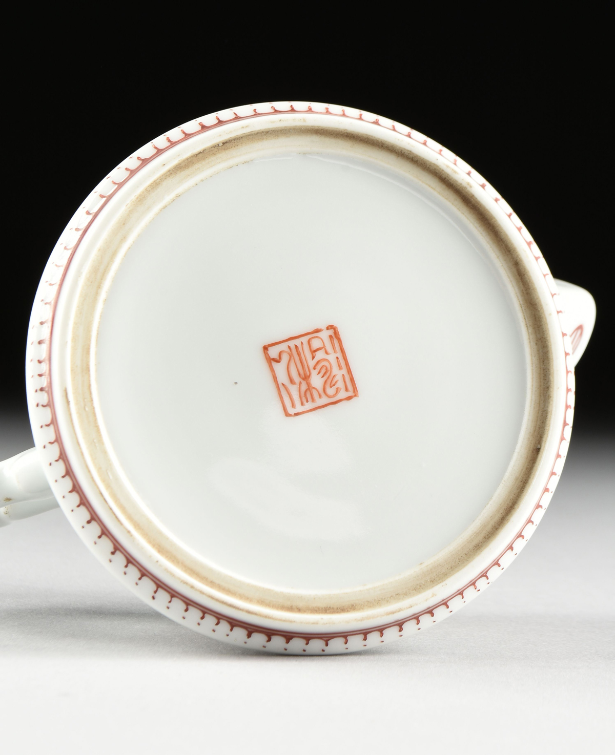 Lot 34 - A CHINESE EXPORT FAMILLE ROSE POEM AND MAGPIE PORCELAIN TEAPOT, 20TH CENTURY, the top with four