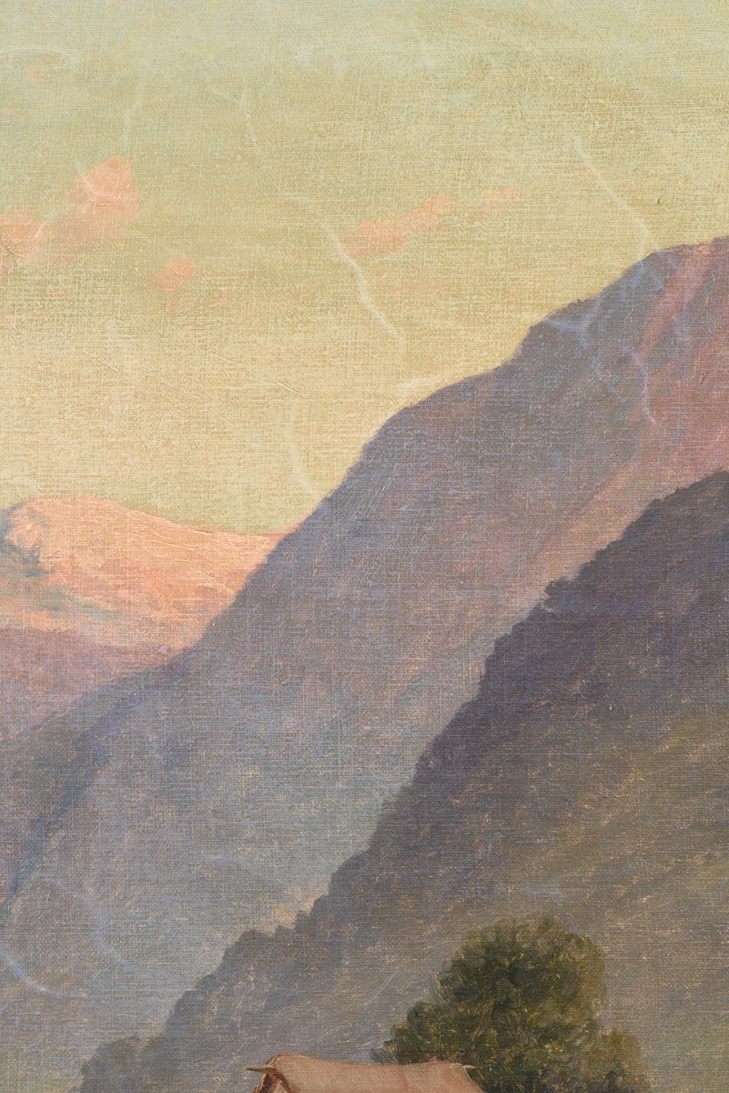 """Lot 44 - BENITO RAMOS CATALAN (Chilean 1888-1961) A PAINTING, """"Camino,"""" oil on canvas, signed L/R, verso"""