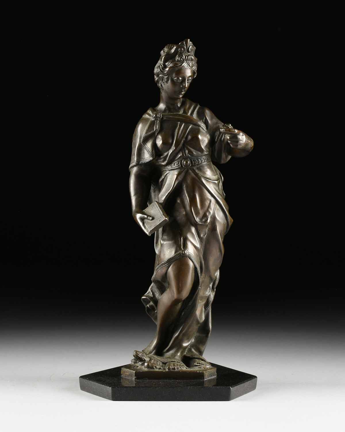 "Lot 43 - in the manner of TIZIANO ASPETTI (Italian c. 1565-1607) A PAIR OF BAROQUE STYLE SCULPTURES, ""War,"""