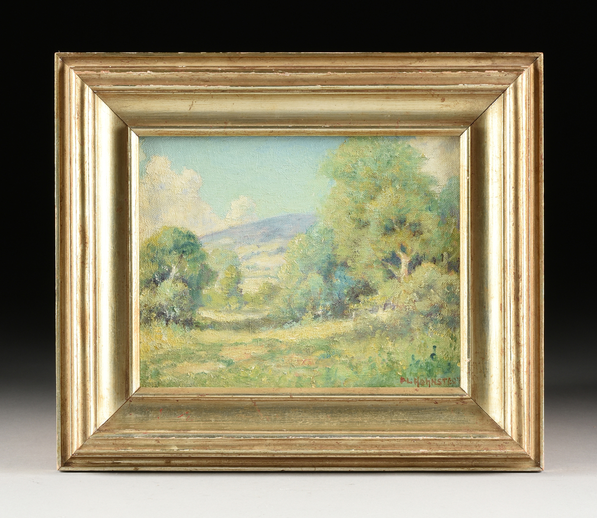 """Lot 60 - PETER HOHNSTEDT (American/Texas 1871-1975) A PAINTING, """"Hill Country Summer,"""" oil on canvas,"""