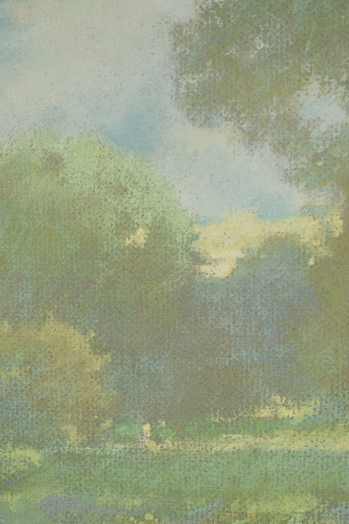 "Lot 23 - CHRIS BURKHOLDER (American/Texas b. 1952) A DRAWING, ""Afternoon Light,"" pastel on paper, signed"