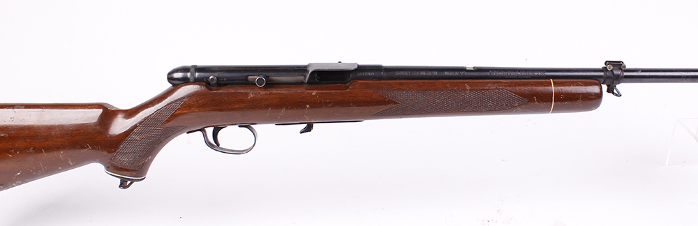 Lot 863 - (S1) .22 Squires Bingham Model 20, semi automatic, (no magazine; no sights), no.747248 [Purchasers
