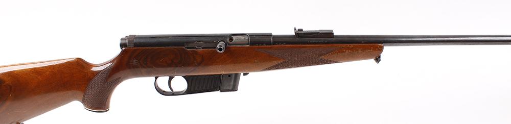 Lot 770 - (S1) .22 Voere (Austria) semi automatic rifle, 21 ins threaded barrel, 10 shot magazine, semi pistol