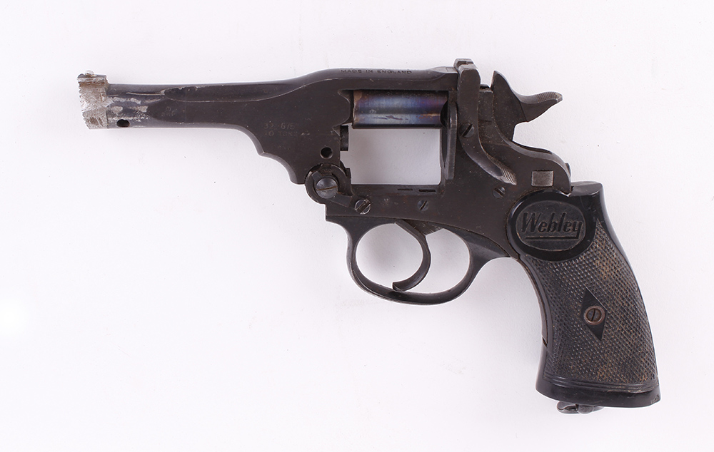 Lot 893 - (S5-SF31) .32 Webley single shot humane dispatch pistol (revolver conversion), no. 209 [Purchasers