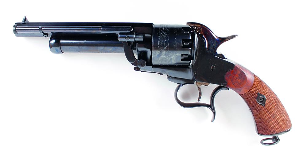 Lot 883 - (S1) .44/20 bore Pietta Le Matt black powder percussion 9 shot revolver, 7 ins octagonal barrel (