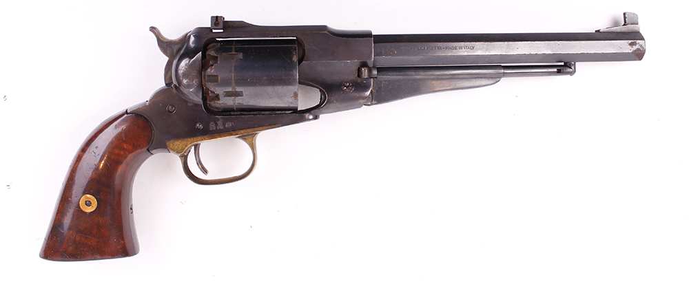 Lot 875 - (S1) .44 Pietta Remington 1858 percussion black powder target revolver, 8 ins octagonal barrel,