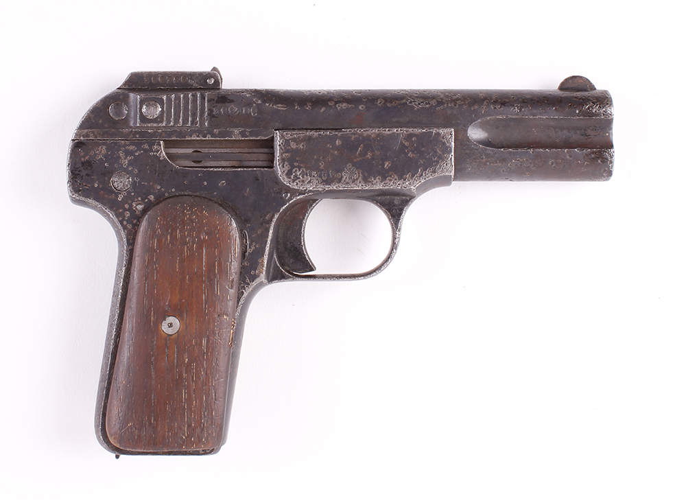 Lot 716 - .32 FN Browning Brevette semi automatic pistol (no magazine), no. 398780 Deactivated with EU