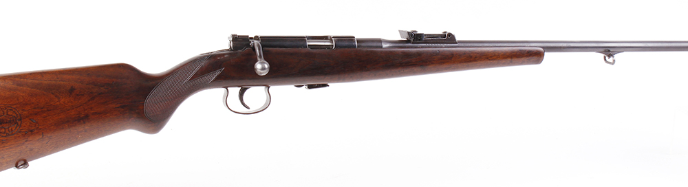 Lot 769 - (S1) .22 Mauser Mm 410 B (pre-WWII) bolt action sporting rifle, 23½ ins barrel with blade foresight,