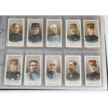 Cigarette Cards, Military, a collection of sets in a modern ringbinder including Wills Allied Army