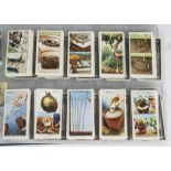 Cigarette Cards, Players, a selection of sets to name, Garden Hints, Natural History, Miniatures,