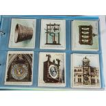 Cigarette Cards, Players, a collection of larger sized cards in a modern ringbinder, to name, Clocks