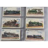 Cigarette Cards, Wills, contained in a modern ringbinder a selection of sets to name, Railway