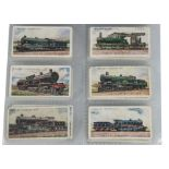 Cigarette Cards, Wills, a variety of sets in a modern ringbinder, to name, Railway Engines (2