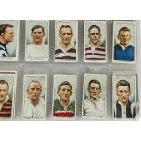 Cigarette Cards, Football, a mixture of part sets and single cards, including various Phillips