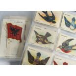 Foreign Cigarette Silks, American Tobacco, two sets, Birds in Flight, L20 set , mainly subsets A(a &